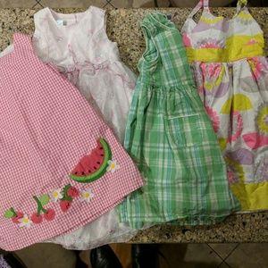 Other - BUNDLED toddler girl summer dresses. Size 4/4T